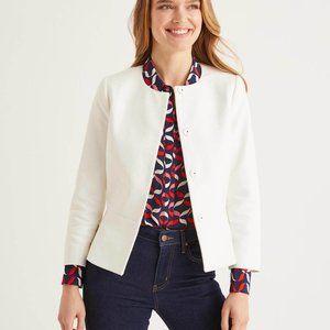 EUC Boden Polperro Jacket - Ivory Size 14